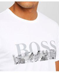 BOSS - White Regular Fit Tee 6 T-shirt for Men - Lyst