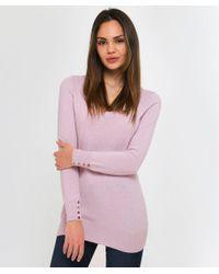 Cocoa Cashmere - Purple Shimmering Cashmere Scoop Neck Jumper - Lyst