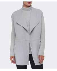Duffy - Gray Knitted Longline Gilet - Lyst
