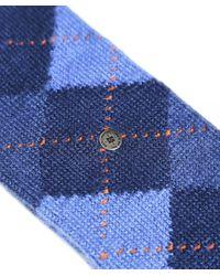 Burlington Blue Preston Socks for men