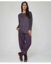 Birthe Corduroy Trousers Oska en coloris Purple