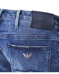 Slim Fit J06 Jeans Emporio Armani pour homme en coloris Blue