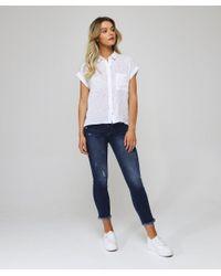 Linen Blend Whitney Golden Cactus Shirt Rails en coloris White