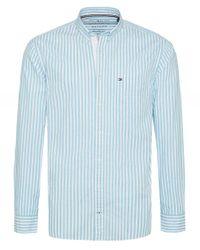 Tommy Hilfiger Blue Essential Pure Cotton Stripe Shirt for men
