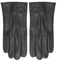 Nappa Leather Gloves Stetson pour homme en coloris Black