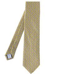 Eton of Sweden Orange Silk Patterned Tie for men