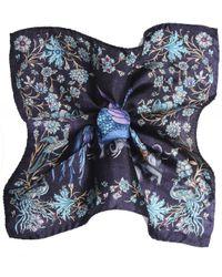Silk Patterned Pocket Square Eton of Sweden pour homme en coloris Blue