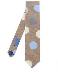 Stenstroms Brown Silk Patterned Tie for men