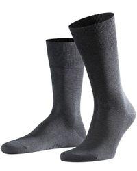 Falke Gray Tiago Business Socks for men