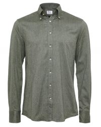 Fitted Body Twill Woven Shirt Stenstroms pour homme en coloris Green