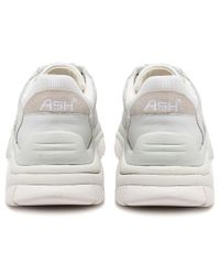 Ash White Leather Addict Trainers