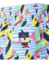Boat Race Swim Shorts Hackett pour homme en coloris Blue