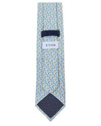 Eton of Sweden Gray Silk Patterned Tie for men