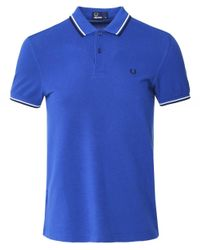 Twin Tipped Polo Shirt M3600 H30 Fred Perry pour homme en coloris Blue