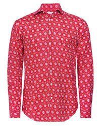 Fitted Body Linen Daisy Shirt Stenstroms pour homme en coloris Pink