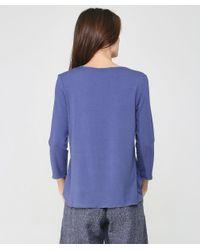 Pam Jersey Long Sleeve Top Oska en coloris Gray