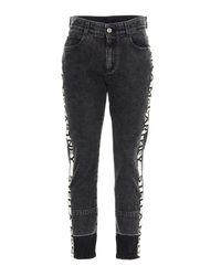 Jeans tape logo di Stella McCartney in Black