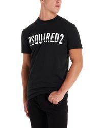T-shirt logo di DSquared² in Black da Uomo