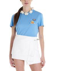 Prada Blue Crab Cotton T-shirt