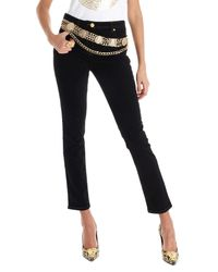 Jeans slim fit di Versace in Black