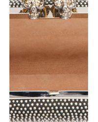 Pochette cristalli di Alexander McQueen in Black