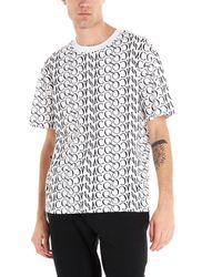 T-shirt logo all over di McQ Alexander McQueen in White da Uomo