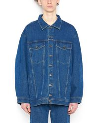 Y. Project - Blue Oversized Denim Jacket for Men - Lyst
