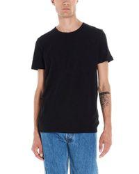 Majestic Filatures Black Mix Cashmere T-shirt for men