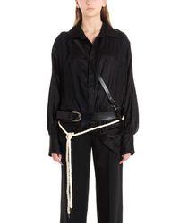 Cintura dettaglio corda di Ann Demeulemeester in Black