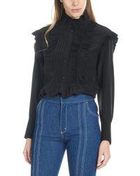 Camicia plissè di Chloé in Black