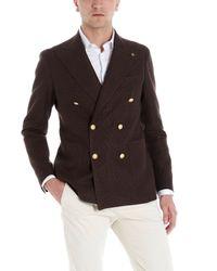 Tagliatore Brown Doublebreasted Blazer for men
