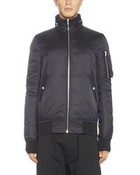 Rick Owens - Black Hooded Bomber Jacket for Men - Lyst