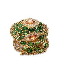 Madstone | Green Medusa Diamond Ring | Lyst