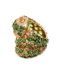 Madstone - Green Medusa Diamond Ring - Lyst