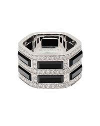 Mania Zamani - Metallic Unity Onyx Ring - Lyst