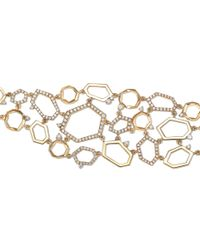 Mimi So - Metallic Jackson Cluster Gold Link Bracelet - Lyst