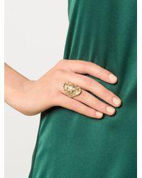 Venyx | Yellow Gold Madagascar Ring | Lyst