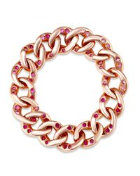 SHAY - Red Ruby Link Ring - Lyst