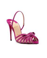 Christian Louboutin Pink Araborda Strass Heel