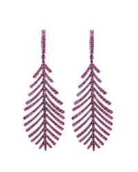Sidney Garber - Multicolor Ruby Feathers That Move Earrings - Lyst