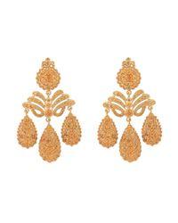 Sylvie Corbelin Metallic Garnet Chandelier Earrings
