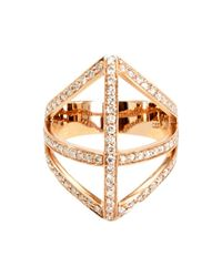 Campbell - Metallic Diamond Shield Ring - Lyst