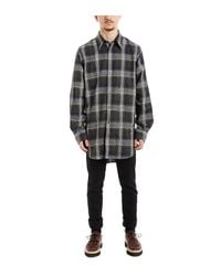Stella McCartney Gray Grey Black Plaid Shirt for men