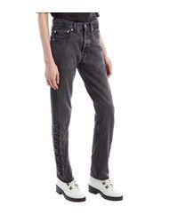Olivier Theyskens Hook And Eye Black Washed Denim Jeans