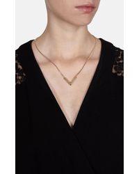 Karen Millen - Metallic Angle Crystal Necklace - Gold Colour - Lyst