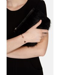 Karen Millen | Metallic Arrow Bracelet - Gold Colour | Lyst