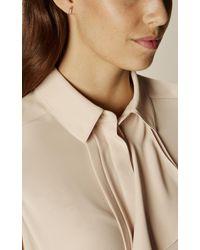 Karen Millen - Metallic Flow Crystal Stud Earrings - Rose Gold Colour - Lyst
