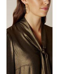 Karen Millen - Multicolor Criss Cross Hoop Earring - Gold Colour - Lyst