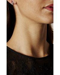 Karen Millen - Multicolor Evolution Crystal Stud Earring - Km - Lyst