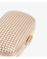 Karen Millen Natural Woven Clutch Bag